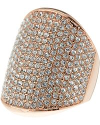 Vince Camuto - Crystal Pave Shield Ring - Size 7-8 - Lyst