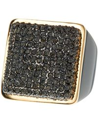 Vince Camuto - Resin Crystal Pave Ring - Size 8 - Lyst
