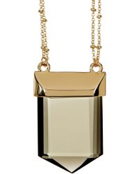 Catherine Malandrino - Stone Pendant Station Necklace - Lyst