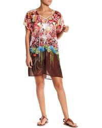 Clover Canyon Floral Lace-up Cover-up - Multicolour