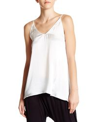 Craft & Commerce V-neck Satin Washed Cami - White