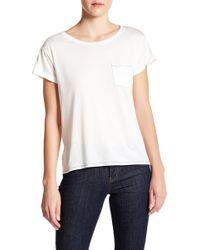 Craft & Commerce Short Sleeve Pocket Tee - White