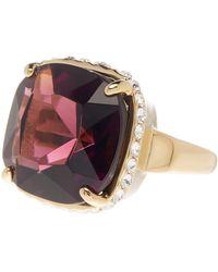 Cole Haan - Cushion Cut Rhinestone & Embellished Bezel Ring - Size 7 - Lyst