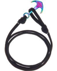 Cole Haan Paracord Anchor Wrap Bracelet - Black