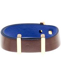 Cole Haan - Brown & Blue Leather Bracelet - Lyst