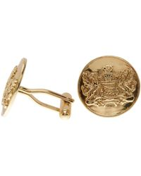 Cole Haan - Circular Crest Embossed Cuff Links - Lyst