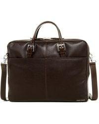 Cole Haan | Pebble Leather Zip Top Briefcase | Lyst