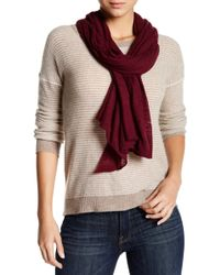 Cole Haan - Oversized Wool Blend Scarf - Lyst