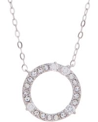 Nadri - Halo Cz Pendant Necklace - Lyst