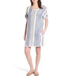 Caslon - Lace-up Shift Dress (regular & Petite) - Lyst