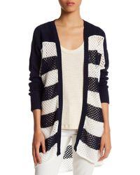 Lamade - Stripe Open Knit Cardigan - Lyst