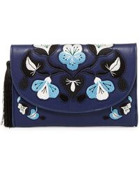 Cynthia Rowley - Layla Embroidered Clutch - Lyst