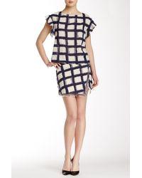 Twelfth Street Cynthia Vincent Mini Wrap Skirt - Blue
