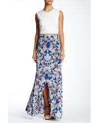 Twelfth Street Cynthia Vincent Gypsy Wrap Silk Skirt - Blue
