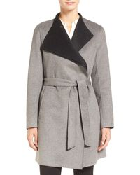 CALVIN KLEIN 205W39NYC - Belted Wrap Coat - Lyst