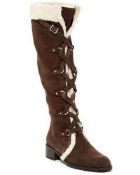 Delman - Strut Genuine Shearling Lined Boot - Lyst