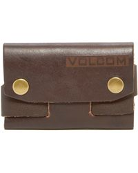 Volcom - Stacks Leather Wallet - Lyst