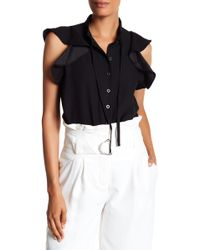 Lamarque - Ruffle Blouse Bodysuit - Lyst