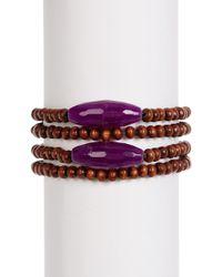 Hat Attack - Stone Wood Bead Bracelet - Lyst