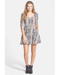 Mimi Chica - Floral Print Skater Dress (juniors) - Lyst