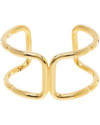 Diane von Furstenberg Triple Strand Snake Chain Bracelet - Metallic