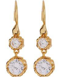 Diane von Furstenberg - Cz Double Drop Earrings - Lyst