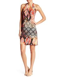 Sienna Rose - Sleeveless Printed Dress - Lyst