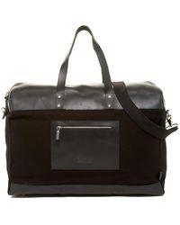Enter # - Black Canvas & Black Leather Duffel - Lyst