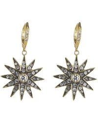 CZ by Kenneth Jay Lane | Cz Starburst Earrings | Lyst