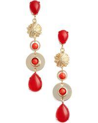 Zenzii - Linear Drop Earrings - Lyst