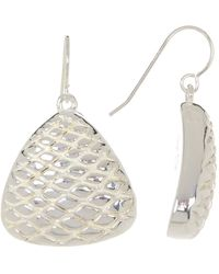 Simon Sebbag - Sterling Silver Textured Triangle Drop Earrings - Lyst