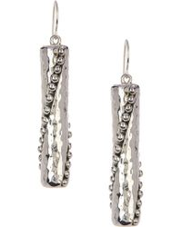 Simon Sebbag - Sterling Silver Beaded Stick Earrings - Lyst