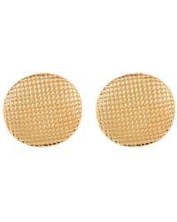 Simon Sebbag - 24k Gold Plated Lattice Earrings - Lyst