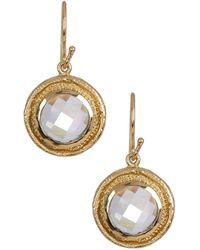 Melinda Maria - Ryder White Cz Drop Earrings - Lyst
