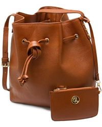 Erica Anenberg - Chelsea Leather Bucket Bag - Lyst