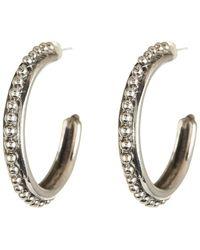 Stephen Dweck - Sterling Silver Beaded Hoop Earrings - Lyst