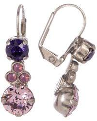 Sorrelli - Clustered Circular Crystal Drop Earrings - Lyst