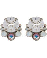 Sorrelli - Multi-cut Round Crystal Cluster Stud Earrings - Lyst
