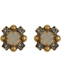Sorrelli - Flower Swarovski Crystal Stud Earrings - Lyst
