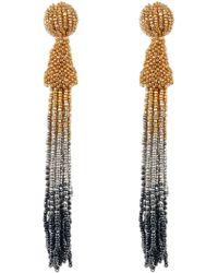 Cara - Long Seed Bead Tassel Drop Earrings - Lyst