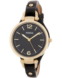 Fossil - Women's Georgia Leather Strap Watch - Lyst