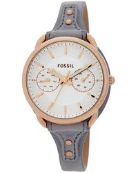 Fossil - Women's Stainless Steel Leather Strap Watch - Lyst