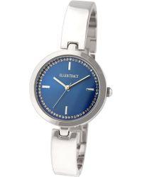 Ellen Tracy - Women's Silver-tone Crystal Watch - Lyst