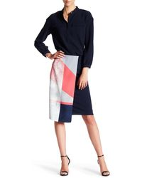 Ellen Tracy - Faux Wrap Pencil Skirt - Lyst