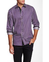 Emanuel Ungaro - Regular Fit Long Sleeve Striped Shirt - Lyst