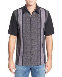 Nat Nast - 'konica' Regular Fit Short Sleeve Silk Sport Shirt - Lyst