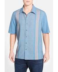 Nat Nast - 'konica' Regular Fit Short Sleeve Silk Sport Shirt - Lyst