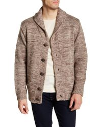 Weatherproof - Faux Shearling Lined Marled Shawl Collar Cardigan - Lyst