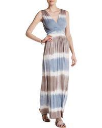 Fraiche By J - Tie Dye Ombre Maxi Dress - Lyst