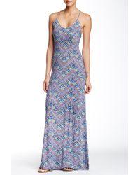 Fraiche By J - Printed Maxi Dress - Lyst